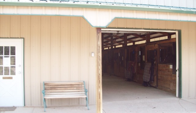 Outside stables