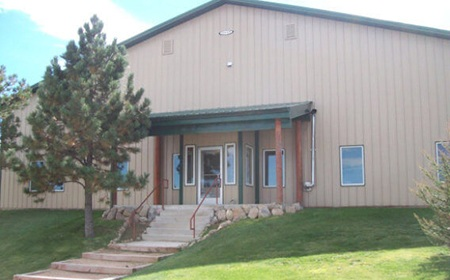 Entrance to Aspen Ridge Equine Hospital
